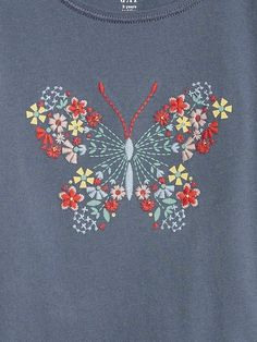 Embroidered Graphic T-Shirt Designs For Dresses, Embroidery Designs, How To Draw Hands, Gap, Graphics, Knitting, Shirt, Needlepoint, Sewing
