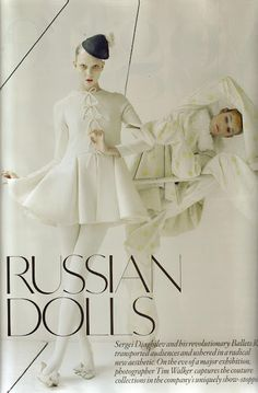 Les Poupees Russes photography by Tim Walker.