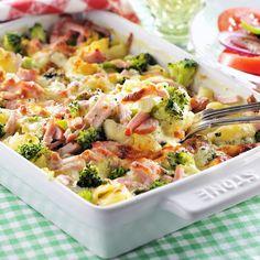Carbonara Recept, Broccoli, Potato Salad, Bacon, Potatoes, Ethnic Recipes, Food, Lasagna, Food And Drinks