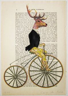 Classy deer in black - Mixed Media-Digital Illustration Print-Art Poster-Acrylic Painting-Holiday Decor-Drawing Illustration-Gifts for him via Etsy
