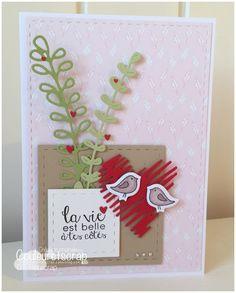 """Couleuretscrap : Tampons et matrices de coupe (dies) #4enSCRAP """"Joyeuse St Valentin"""""""