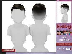 The Sims 4 ANTO ATREUS HAIR TODDLER VERSION