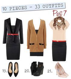 10 Kleidungsstücke und 33 Outfits - Gut und abwechslungsreich angezogen zu sein ist auch mit einem XS-Kleiderschrank möglich