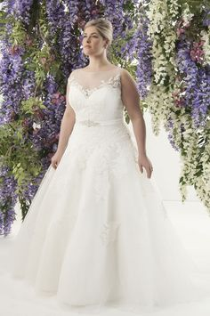 Looking for the perfect plus size wedding gown? Check out these 12 plus size bridal boutiques that cater JUST to the plus size bride to be! Plus Size Bridal Dresses, Plus Size Wedding Gowns, Lace Wedding Dress, White Wedding Dresses, Tulle Wedding, Lace Dress, Curvy Bride, Bridal Gowns, Wedding Styles