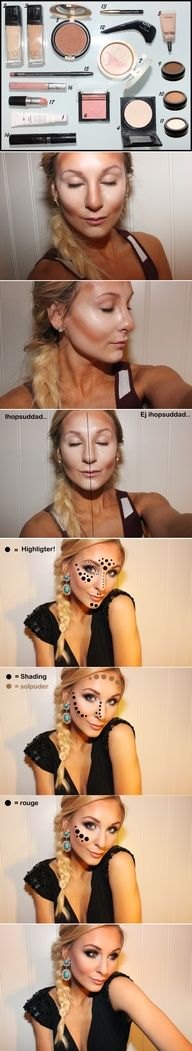 Contouring and Hilighting................Gonna have to try this. Hopefully I don't end up lookin like a Drag Queen LOL