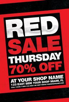 Red Thursday Flyer Template https://noobworx.com/store/red-thursday-flyer-template/?utm_campaign=coschedule&utm_source=pinterest&utm_medium=NoobWorx&utm_content=Red%20Thursday%20Flyer%20Template #free #flyer #template