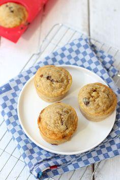 Muffins met banaan en Nutella