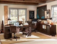 Home Offices If we have an extra bedroom, this needs to happen there- as a shared office!!