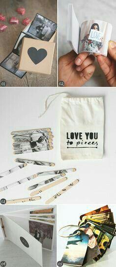 Pin by nouma khan on craft gifts, diy gifts, diy. Diy Gifts For Boyfriend, Birthday Gifts For Boyfriend, Ideias Diy, Scrapbook, Diy Photo, Diy Birthday, Love Gifts, Creative Gifts, Homemade Gifts