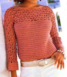 Captivating Crochet a Bodycon Dress Top Ideas. Dazzling Crochet a Bodycon Dress Top Ideas. Crochet Cardigan Pattern, Crochet Tunic, Crochet Jacket, Crochet Clothes, Knit Crochet, Ladies Tops Patterns, Knitting Patterns, Crochet Patterns, Free Knitting