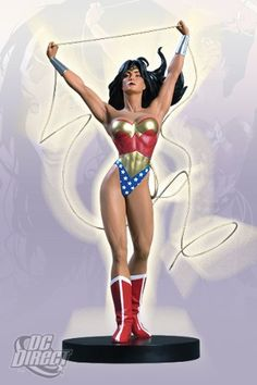 Cover Girls of the DC Universe: Wonder Woman Statue by DC Comics. $424.50. Cold-cast porcelain statue based on cover to Wonder Woman #150. Packaged in a 4-color box. Based on the art of fan-favorite artist Adam Hughes. Sculpted by Jack Matthews. Includes a 4-color Certificate of Authenticity. From the Manufacturer                This limited edition, hand-painted cold-cast porcelain statue is based on the stylish and scintillating cover of Wonder Woman #150 by Adam ...
