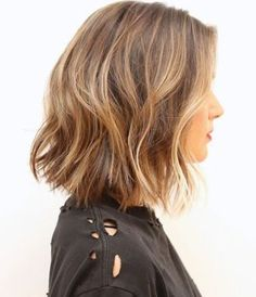 Soft long Bob with tone on tone hi-lights. #peterdeluca #colormelt