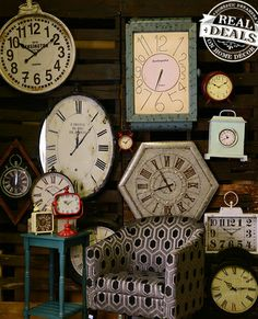 Clock Wall With Our Fun And Unique Clocks By Real Deals On Home Decor