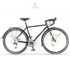 LKLM World Traveller 700c Touring Bike Frame Fork Frameset Reynolds 725 Steel | eBay