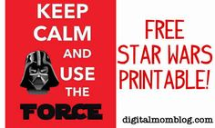 Free Star Wars Printable for Star Wars Day | Digital Mom Blog