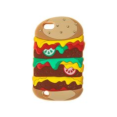Burger iPod Case iPod Touch 5 ($9.86) ❤ liked on Polyvore featuring cases, obj, phone and phone cases