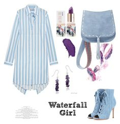 """""""Waterfall Girl"""" by felicitysparks ❤ liked on Polyvore featuring Gianvito Rossi, Teeez, Balenciaga, Steve Madden and Glitzy Rocks"""