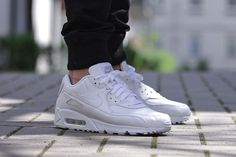 "Nike Air Max 90 Leather – ""All White"""