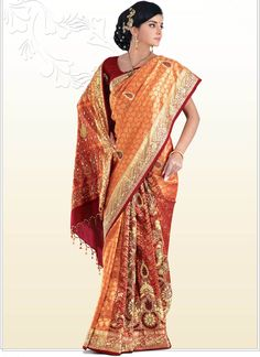 Amodini Embroidered Pure Silk Saree