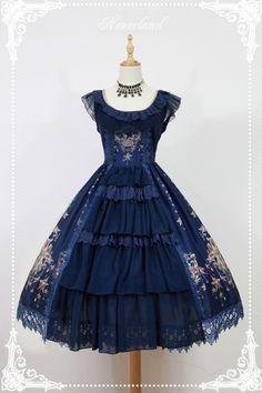 Neverland Lolita ~Gem Swan~ Elegant Lolita JSK Dress with Front Open Design - 4 Colors Available Harajuku Mode, Harajuku Fashion, Kawaii Fashion, Lolita Fashion, Cute Fashion, Rock Fashion, Women's Fashion, Fashion Boots, Fashion News