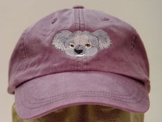 KOALA HAT  One Embroidered Wildlife Cap  Price by priceapparel, $17.95