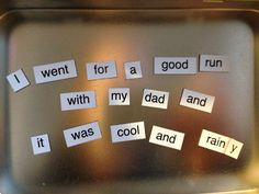Mrs. Ludwigs Speech Room: Magnetic Poetry Kids! A neat tool for sentence formulation & grammar practice