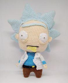 Ravelry: Rick Sanchez pattern by Lorena Flores (Loveandfire) Kawaii Crochet, Crochet Diy, Crochet Crafts, Yarn Crafts, Crochet Projects, Crotchet Patterns, Crochet Patterns Amigurumi, Amigurumi Doll, Crochet Dolls