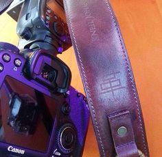 Canon DSLR and KAWA Pro Strap with PERSONALIZED ENGRAVING  for KNEIL MODINA  . Much love! Enjoy your strap! www.kawaprogear.com