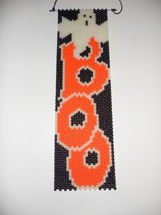 Handmade Halloween Boo with Ghost Beaded Banner