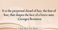 Georges Bernanos Quotes About Fear - 21763