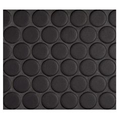 """Complete Tile Collection Penny Round Mosaic - Midnight Black - Matte, 1"""" Round Glazed Porcelain Penny Mosaic Tile, Anti-Microbial, Anti-Odor, Anti-Staining Technology, MI#: 063-Z1-250-051, Color: Midnight Black"""