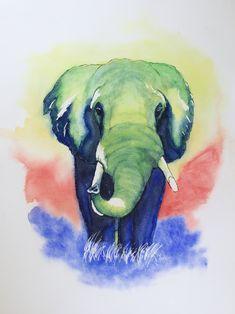 Aquarell Elephant, Painting, Animals, Art, Watercolor, Animales, Art Background, Animaux, Painting Art