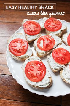 Easy Healthy Snack, ricotta and herbs mixed as spread