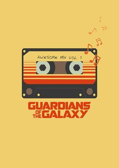 Guardians of the Galaxy poster. Compact Cassette