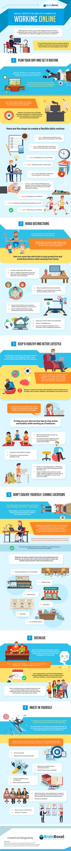 Highly Effective Healthy Habits of Working Online