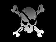 Skull, Crossbones, Pirate, Flag