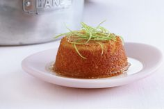 These irresistible coconut and lime cakes are given the final touch with a luscious sticky RUM SYRUP