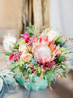 Flowers Wedding Inspiration - Style Me Pretty Wildflower Centerpieces, Wedding Centerpieces, Wedding Decorations, Table Decorations, Wedding Color Schemes, Wedding Colors, Wedding Flowers, Spring Flowers, Wild Flowers