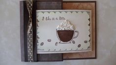 This card is made using the Gatefold Card technique. This particular one is a thank you card, but I've made lots of different cards using this technique. I used the Like It A Latte stamp set and designer paper by Stampin' Up to make this adorable card.