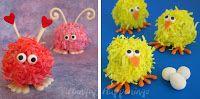 Halloween Food - Mini Monster Cheese Balls and Cake Ball Monsters too.