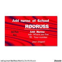 rød og svart Rød Russ Kort Double-Sided Standard Business Cards (Pack Of Cool Cards, Slogan, Business Cards, Templates, Fun, Lipsense Business Cards, Stencils, Vorlage, Name Cards