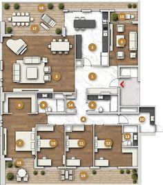 1st Apartment, Apartment Plans, The Sims, Drawing House Plans, Villa Plan, Lobby Design, House Blueprints, Dream House Plans, House Layouts