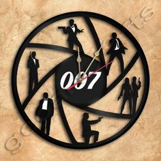 07de3f492d5 James Bond 007 Wall Clock Vinyl Record Clock