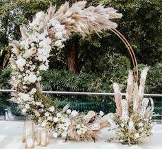 Modern Wedding Backdrop - - - Wedding Reception On A Budget - Burgundy Wedding Boho - Wedding Ceremony Ideas, Wedding Trends, Wedding Designs, Wedding Backdrops, Arch Wedding, Bamboo Wedding Arch, Wedding Backdrop Design, Wedding Ceiling, Fall Wedding Arches
