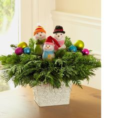 Snowman Holiday Centerpiece