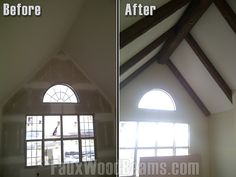 Timber; Faux Wood Beams - for the Master Bedroom