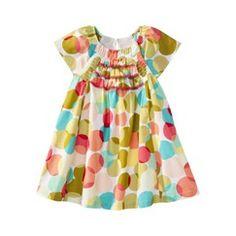 Genuine Kids from OshKosh™ Infant Toddler Girls Short-Sleeve Dot Dress - Green/MultiColor