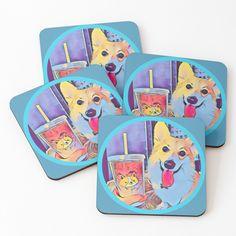 Corgi and tea Corgi Dog, Iphone Phone Cases, Laptop Case, Dog Lovers, Tea, Tote Bag, Purses, High Tea, Handbags