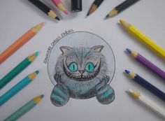 Cheshire Cat. By: Alexandre Carlos Farias #Desenho #Alice #Drawing