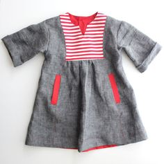 oliver + s hide and seek dress with striped yoke // delia creates